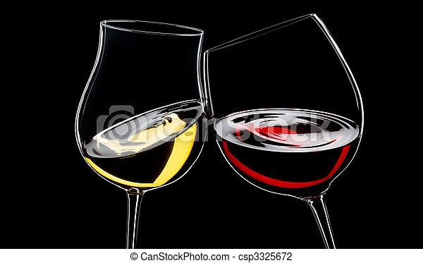 branco vermelho, vinho - csp3325672