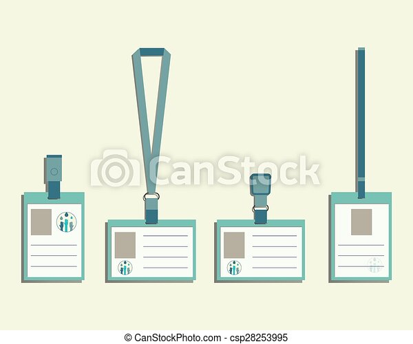 brand identity elements lanyard name tag holder and badge