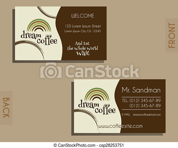 Brand Identity Elements  Visiting Card Template For Cafe