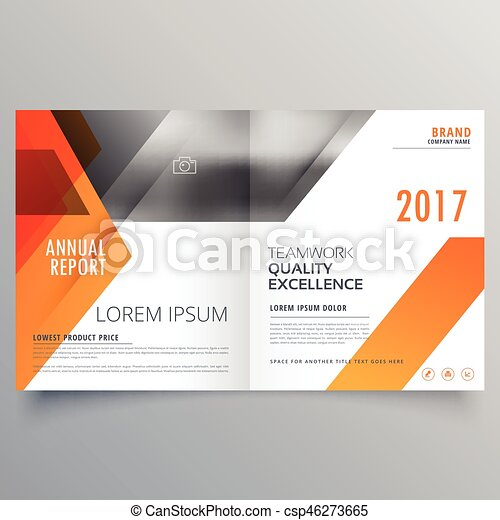 Brand Magazine Cover Page Design Or Bifold Brochure Template Clip