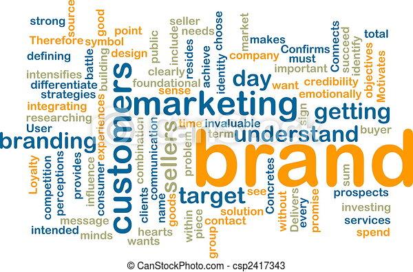 Brand marketing wordcloud - csp2417343