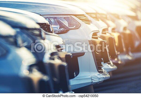 Brand New Cars Row - csp54210050