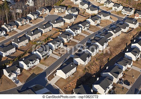 Brand New Suburb Aerial - csp10823772
