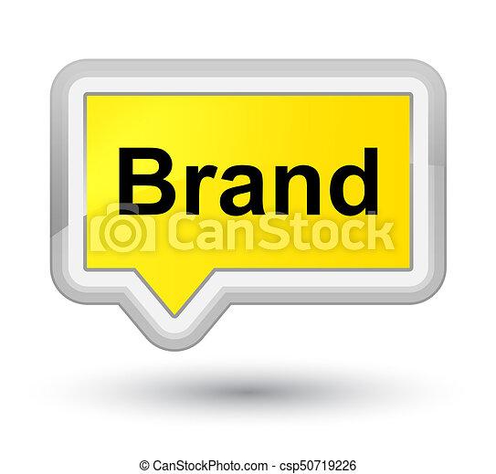 Brand prime yellow banner button - csp50719226