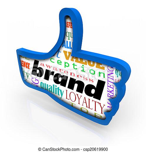 Brand Product Marketing Loyalty Thumbs Up Symbol - csp20619900