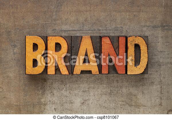 brand word in letterpress type - csp8101067