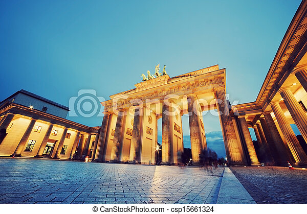 Brandenburg Gate, Berlin, Germany - csp15661324