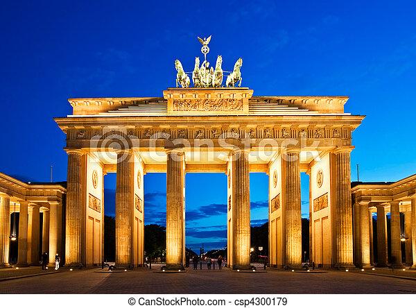 Brandenburg Gate in Berlin - csp4300179