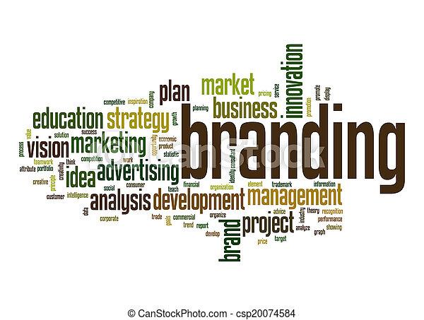 Branding word cloud - csp20074584