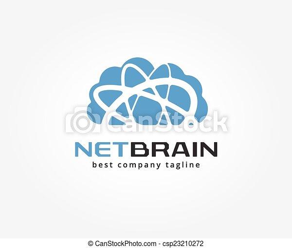 brandmarken, abstrakt, lagerung, logotype, vektor, design, schablone, logo, concept., wolke, ikone - csp23210272