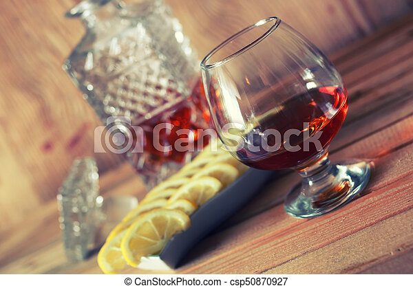 brandy alcohol set glass and carafe - csp50870927