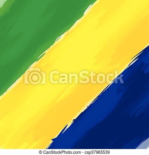 brasil, azul, abstratos, verde amarelo, fundo - csp37965539