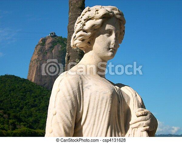 Belleza y azúcar en Rio de Janeiro, Brasil - csp4131628