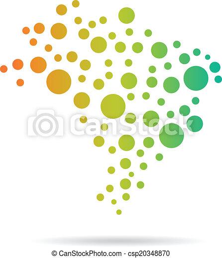 Brasil Circles Map image - csp20348870