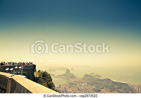 Vistas de la ciudad de Corcovado rio de Janeiro Brasil - csp2973523