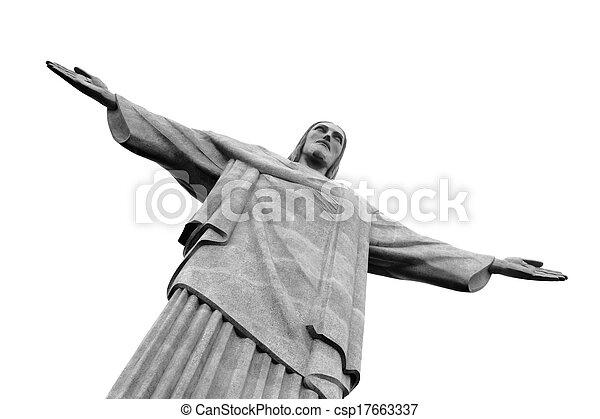Cristo la estatua redentor, rio de janeiro, Brasil - csp17663337