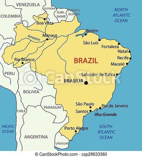 República Federativa de Brasil, mapa - csp28633360