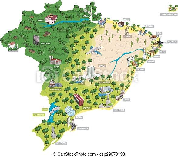 Mapa de Brasil - csp29073133