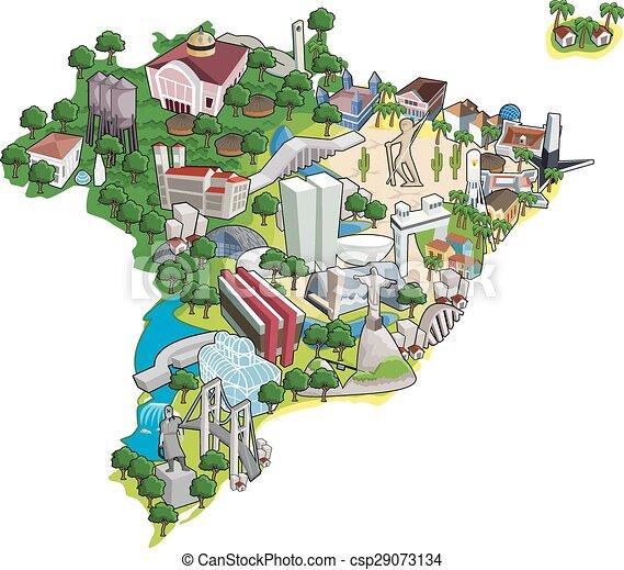 Mapa de Brasil - csp29073134