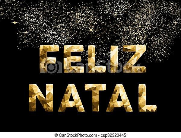 Feliz Navidad En Portugues Brasil.Brasil Oro Feliz Poly Natal Bajo Feliz Navidad