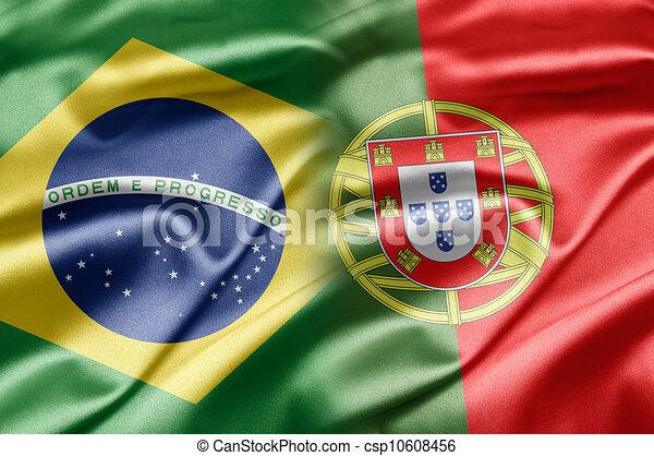 Brasil y Portugal - csp10608456