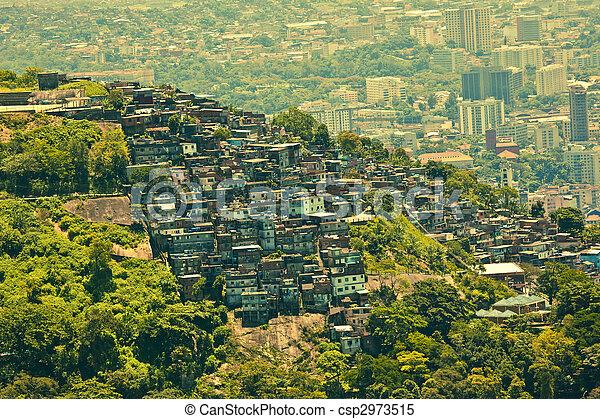 Favela in rio de janeiro brazil - csp2973515
