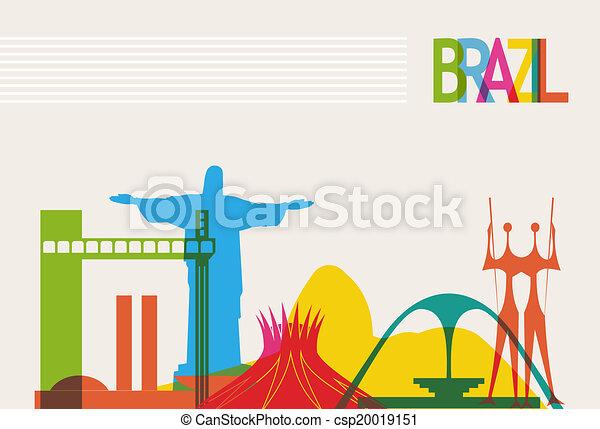 brasil, skyline, turismo - csp20019151