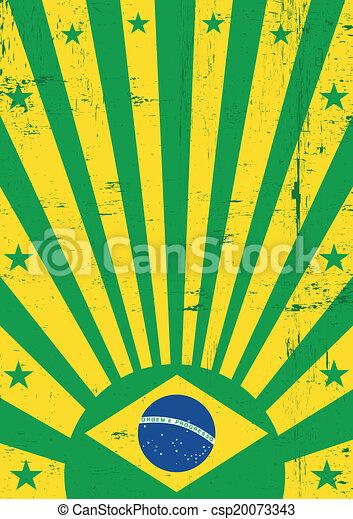 Antecedentes vintage de Brasil - csp20073343
