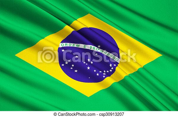 brasilia, vlag, brazilie. brasilia, nationale vlag, brazilie.