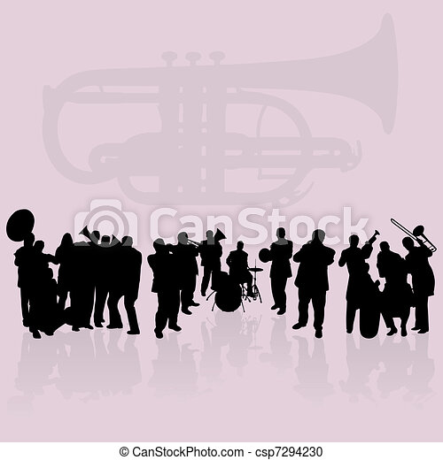 Brass Band Silhouettes Set - csp7294230