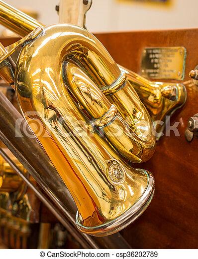 Brass Car Horn - csp36202789
