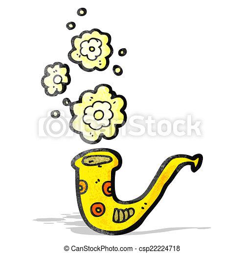 brass horn cartoon - csp22224718