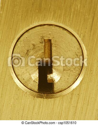 Brass lock keyhole macro - csp1051610