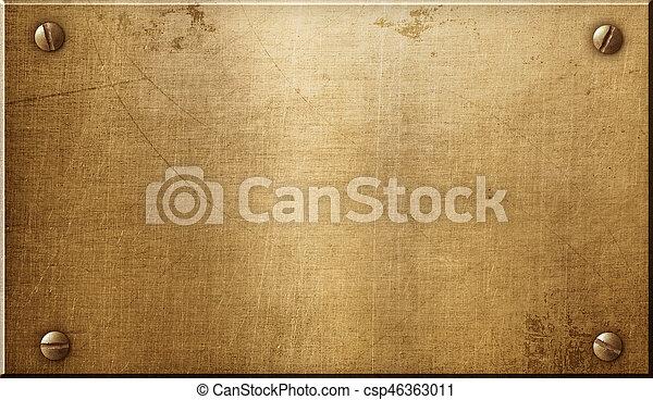 Brass metal plate - csp46363011