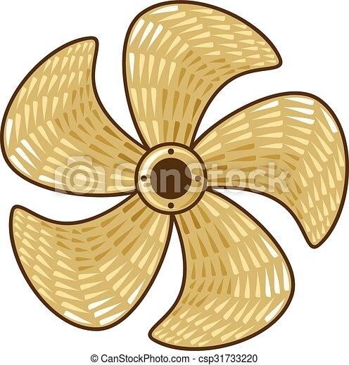 brass ship propeller - csp31733220