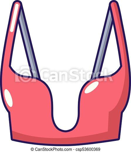 Brassiere women icon, cartoon style - csp53600369