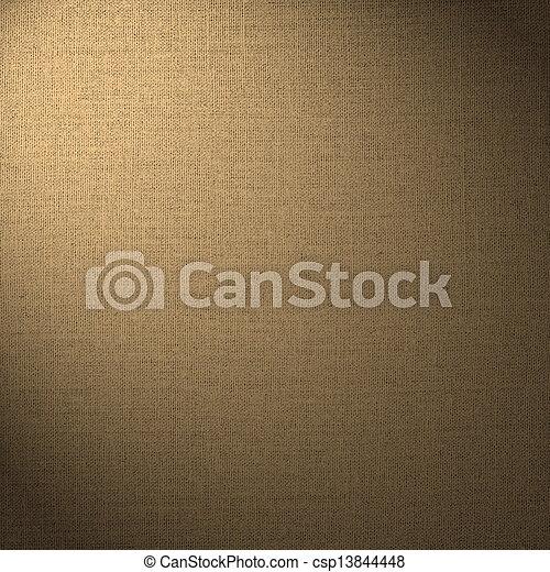 brauner, abstrakt, hintergrund, leinen - csp13844448