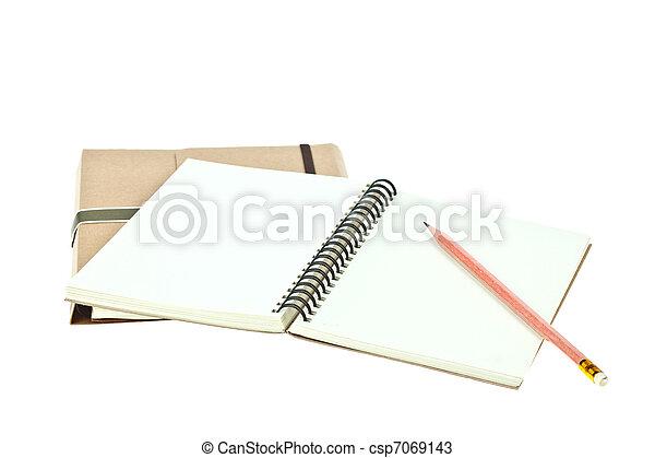 Brauner, bleistift- farbe, licht, freigestellt, briefpapier ...