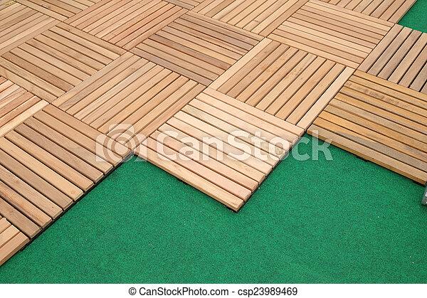 Brauner Boden Dekoration Holz Planke Block