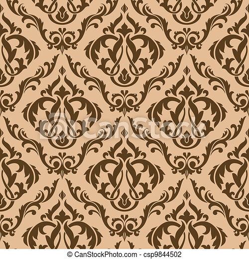 brauner, maßwerk, seamless, muster - csp9844502