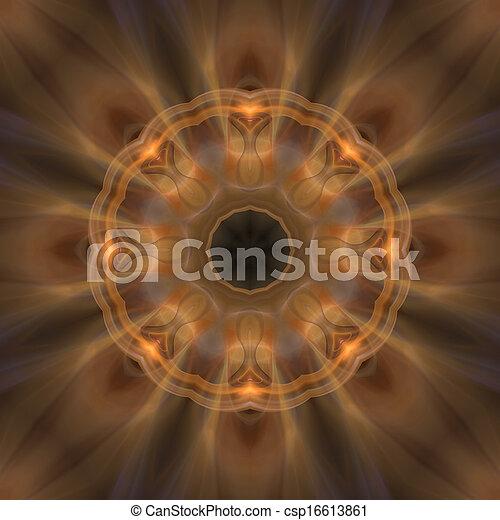brauner, mandala, weich, hintergrund - csp16613861