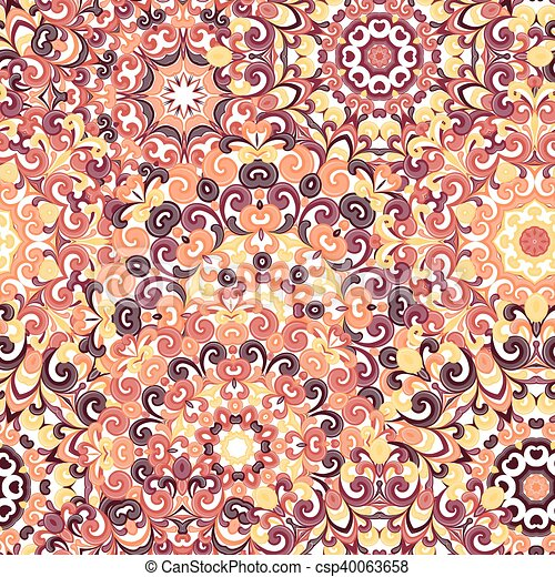 Traditionell Muster Mandala Bunt 00QibvI