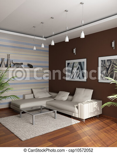 brauner zimmer wand sofa rendering bilder versammlung eckig 3d. Black Bedroom Furniture Sets. Home Design Ideas