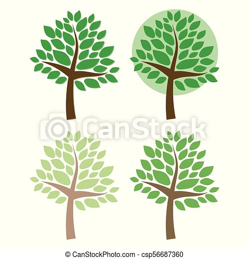 Brauner Zweige Gemalt Blatter Backgroud Baum Freigestellt