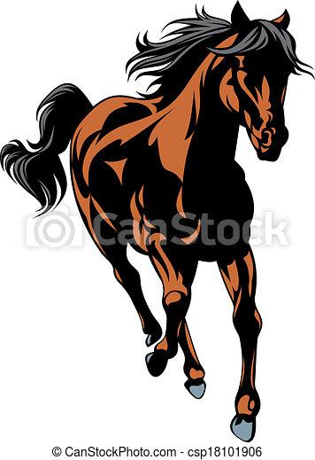 braunes pferd - csp18101906