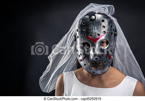 Serienmäßig braut serienmäßig murederer maske hockey maske braut