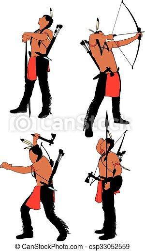 Brave Indian Warrior - csp33052559