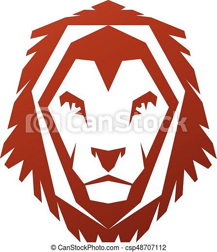 brave lion king face emblem animal element heraldic coat of rh canstockphoto com cartoon lion face clipart lion face clipart