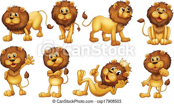 brave lions illustration of the brave lions on a white background rh canstockphoto com clip art lion king clipart lines free