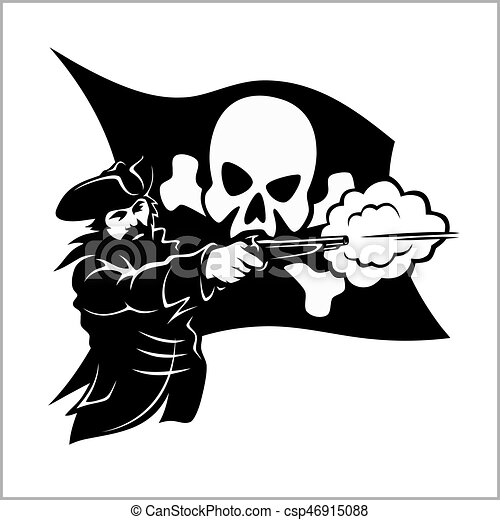Brave pirate with pistol - csp46915088